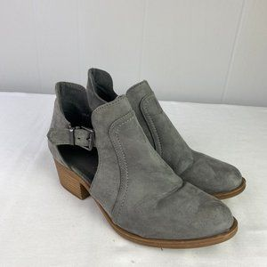 💚Herstyle | Size 8. Gray Suede Ankle Booties